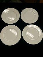 "(4) Block Spal LISBOA WHITE 6 1/2"" Bread & Butter Plates"