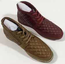 STACY ADAMS Men's TipTop Quilted Chukka Boot,Cognac and Red Casual Fashion New