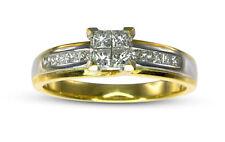 18k Yellow & White Gold 1/2ct Princess Cut Diamond Engagement Ring Two-Tone
