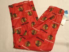 NHL Chicago Blackhawks Kids M 5/6 Elastic Waist Flannel Pajama Pant Sleepwear