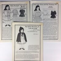 "Lot of 3 Hobby House Press 23-24"" Historical Doll Clothes Patterns vintage"