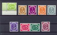 Bund 123-31 Posthorn 2-25 Pfg. postfrisch teilweise geprüft Schlegel (ps42)