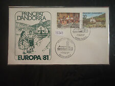 First Day Cover Andorran Stamps