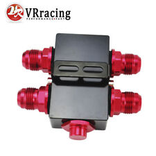 Oil Filter Sandwich Adapter With In-Line Oil Thermostat AN10 fitting Oil Plate