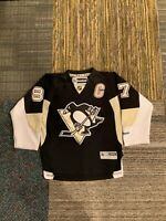 Youth Sidney Crosby #87 Sewn Pittsburgh Penguins Jersey Size S/M Small Medium