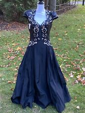 New listing Vintage 80s Alyce Designs Sequin Black Gown Dress Prom Party Sz 12