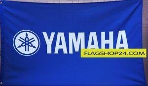 Big NEW YAMAHA 3D LOGO BLUE FLAG BANNER 3X5 FEET ATV yfz yzf fjr xt250 tt 46