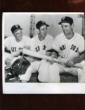 Original June 22 1950 Ted Williams Vern Stephens Walt Dropo Red Sox Wire Photo