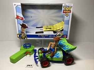 DISNEY PIXAR TOY STORY 4 RC TURBO BUGGY WOODY  FULLY WORKING WITH BOX