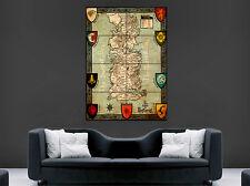 GAME OF THRONES Mappa Poster sette regni del continente occidentale arte foto stampa di grandi dimensioni