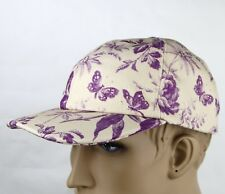 Gucci Beige/Purple Canvas Baseball Cap with Floral Print 408793 5278
