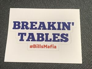 Buffalo Bills MAFIA Decal Sticker - NFL Buffalo NY Breakin' Tables Free shipping