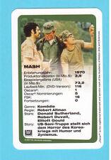 MASH the Movie Elliott Gould Donald Sutherland German Film Card