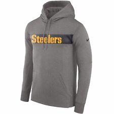 Mens Nike Therma Pittsburgh Steelers Seismic Hoodie Gray XL