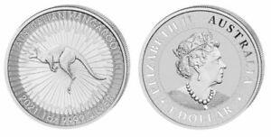 Australien 1 Dollar Känguru 2021  1 Oz 999   Silber *prägefrisch*