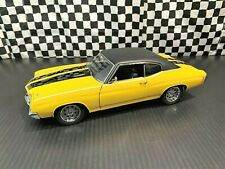 Exact Detail 1970 Car Craft Cheap Street Chevelle -Yellow/Black- L E 1:18 Boxed