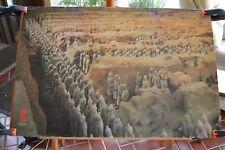 China's 1st emperor Qin Shi Huang Di Terra-Cotta Army Poster Don Hamilton 1988