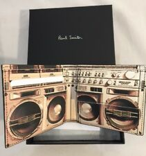 Paul Smith Men's Bifold Wallet Blaster With Coin Black Leather Made In Italy