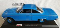 NEW MAISTO 1:18 Diecast Model Car 1962 Chevrolet Bel Air Blue