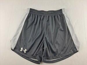 "UNDER ARMOUR Trophy Short Women M Grey Jersey Knit Athletic Elastic Waist 5"" D2"