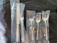 TOWLE STERLING FLATWARE SET OF RAMBLER ROSE SET FOR 4 BY 5  TOTAL 20 PIECES