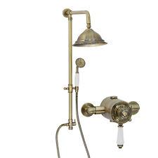 Enki concentrici TERMOSTATICA Doccia Set Classico Bell 200 mano Bronze Claremont