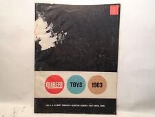 GILBERT TOYS 1963 CATALOG ERECTOR & DINKY TOYS
