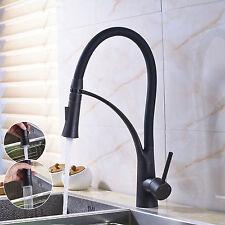 Oil Rubbed Bronze Kitchen Faucet Swivel Spout Vessel Sink Pull Duwn Mixer Tap