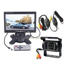 "Monitor LCD retrovisor de 7 ""para automóvil + cámara de marcha atrás inalámbrica"