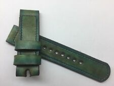 22mm Handmade Watch Strap Vintage Ammo Hand Dyed Leather Panerai Pam