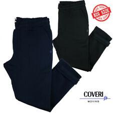 Pantaloni tuta uomo felpato pesante cotone taglie forti blu nero 3xl 4xl 5xl 6xl