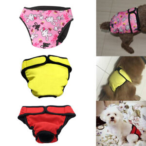 2020 Belly Band Female Dog Diapers Physiological Sanitary Period Pant Nursing US