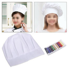 Children Chef Hat Cooking Baker Cap Kids Fancy Dress Gift Name Embroidered DIY