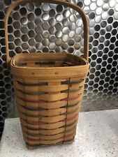 1995 Longaberger Peg Basket-woven traditions with protector