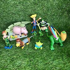 Disney Store Exclusivo Toy Story Hawaiian Vacaciones Figuras Pixar corto Woody Rex