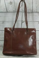 Vintage Rich Brown Leather Shoulder Tote Bag