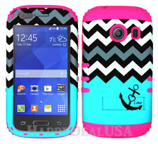 For Samsung Galaxy Ace Style S765c KoolKase Hybrid Cover Case CHEVRON ANCHOR 03