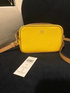 Tory Burch block mini camera bag lemon/cardamom.Used once. Excellent condition.