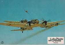 BATTLE OF BRITAIN RARE 1969 GERMAN LOBBY PHOTO SPITFIRES ATTACK GERMAN BOMBER!