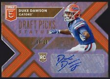 2018 ELITE DRAFT PICKS STATUS GOLD DUKE DAWSON RC SP AUTO /10 PATRIOTS