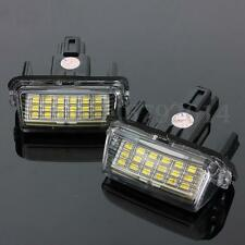 2x LED License Number Plate Light For Toyota Camry Yaris Prius Corolla Fielder