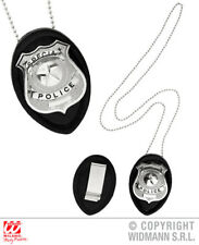 Clip On Police Badge Necklace Cops And Robbers Fancy Dress Costume Accessory