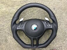 BMW M3 E46 SSG PADDLE SHIFTERS NEW CUSTOM MADE FLAT BOTTOM STEERING WHEEL