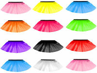 Children Kids Neon 3 Layers of Net UV Flo Girl Tutu Skirt Hen Fancy Dress Party