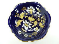 "Lindner Kueps Bavaria Echt Cobalt Blue Gold Floral Bowl 10 1/2"" Regina-C Germany"