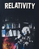 Relativity Mens L Einstein Black Novelty T-Shirt