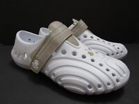 New Dawgs Hounds Womens Sz 5 6 Ultralite White w Gray Slip On Water Proof Shoes