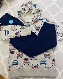 NWT 2 Pc Set Boys Carters Kids Pullover Hoodie & Jogger Set Size 8 NEW $42