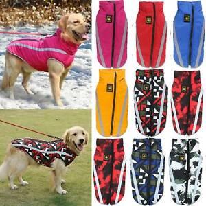 Waterproof Winter Warm Dog Coat Clothes Padded Vest Pet Jacket Medium/ Large