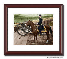 Gen Sherman Atlanta Fort Horse 11x14 Framed Photo Print Color Civil War - 03628